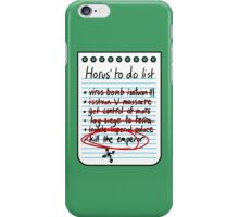 To do list iPhone Case/Skin