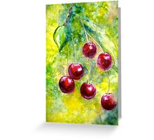 "Cherries...""Left Hangin"" Greeting Card"