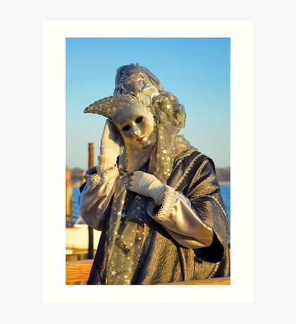 Venice carnival mask Art Print