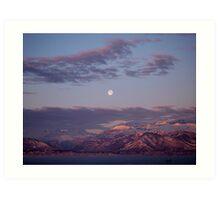 Alpine Moon Art Print