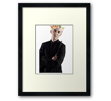 draco with flower crown Framed Print