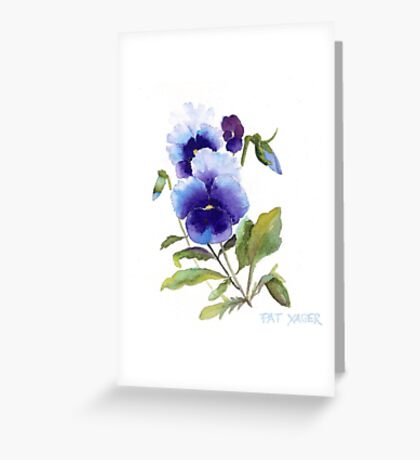Spring Pansy Greeting Card