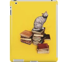 British Cat on a stack of books iPad Case/Skin