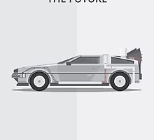 Delorean - Vehicle Inspired Print by George Townley