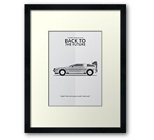 Delorean - Vehicle Inspired Print Framed Print