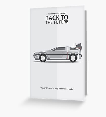 Delorean - Vehicle Inspired Print Greeting Card