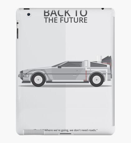 Delorean - Vehicle Inspired Print iPad Case/Skin