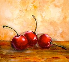 Cherries...Three by © Janis Zroback