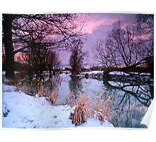 """""""Shades of Dusk over the Devon"""" Poster"""