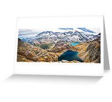Laghi Agnel e Serru` ~ Nivolet ~ Panorama Greeting Card