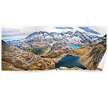 Laghi Agnel e Serru` ~ Nivolet ~ Panorama Poster