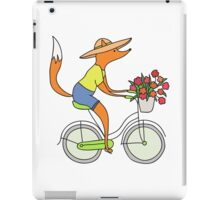 fox on a bike iPad Case/Skin