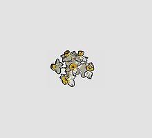 Mini Daffodil Bunch (on grey) by DeneWest