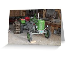 Diesel Tractor Steyr KL I Greeting Card