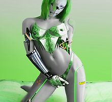 SEXY GREEN CYBORG by moleymole