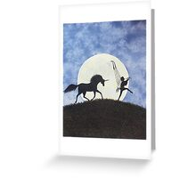 I saw them one night! Greeting Card
