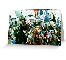 Samurai Knights on Chargers. Greeting Card