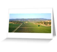 Balloon Shadows over Napa Valley Greeting Card
