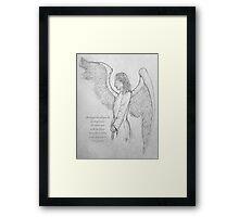 An angel's arms Framed Print