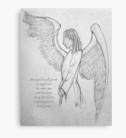 An angel's arms Canvas Print