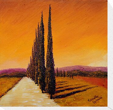 Tuscan Cypress Road by sesillie