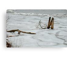 Ice on Lake Ontario Canvas Print