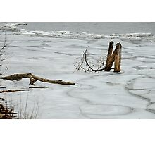Ice on Lake Ontario Photographic Print