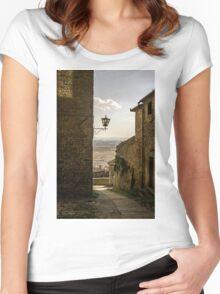 Cortona, Tuscany Women's Fitted Scoop T-Shirt
