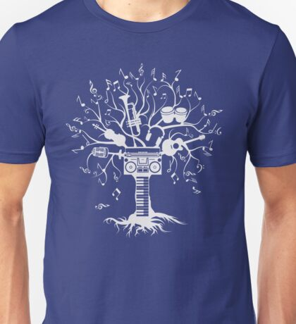 Melody Tree - Light Silhouette Unisex T-Shirt