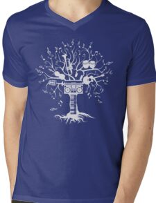 Melody Tree - Light Silhouette Mens V-Neck T-Shirt