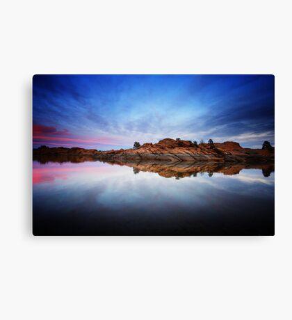Rock Strech into Sunset Canvas Print