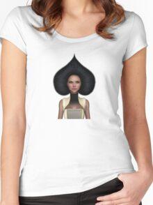 Queen of spades portrait Women's Fitted Scoop T-Shirt