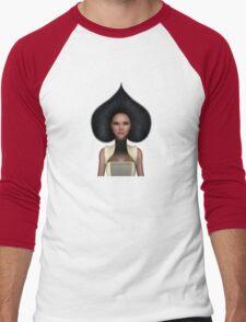 Queen of spades portrait Men's Baseball ¾ T-Shirt