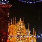Milan. Duomo with Street Lights. Italy 2010 by Igor Pozdnyakov