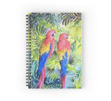 Two Parrots Spiral Notebook