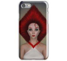 Queen of diamonds portrait iPhone Case/Skin