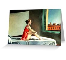 Morning sun after E. Hopper Greeting Card