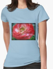 Popping Poppy Womens Fitted T-Shirt