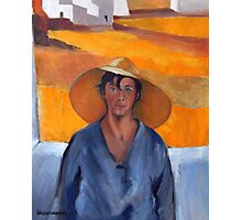 The Straw Hat - after Nikolaos Lytras Photographic Print