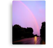 Spring Evening Rainbow Canvas Print