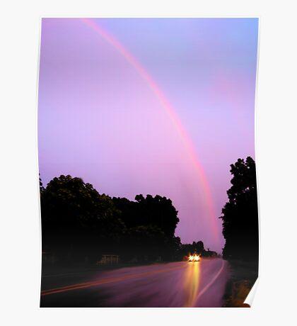 Spring Evening Rainbow Poster