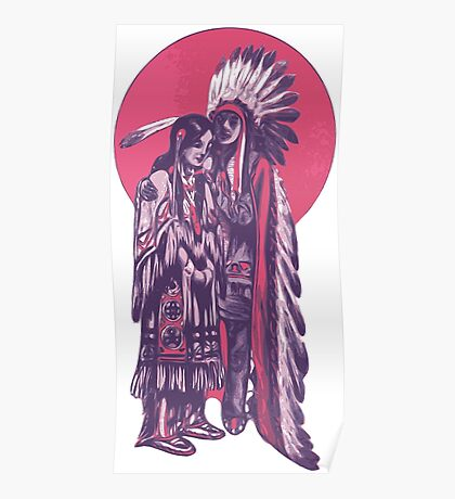 Native American Indian People Poster