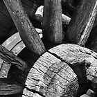 Old wagon wheel by Peter Rattigan