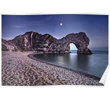 Moonlight Over Durdle Door Poster