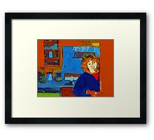 Come in for coffee Framed Print