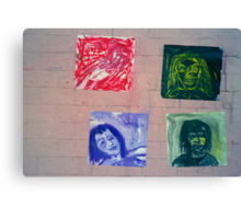 random street art gallery Canvas Print