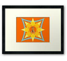 Bee, sun & flower Framed Print