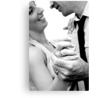 Heres to the Bride and Groom #3 Canvas Print