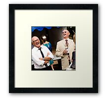 Socialising - a humorous occurrence Framed Print