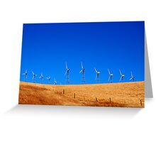 Windmills on a Hill Greeting Card